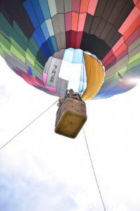 reportage photo anniversaire : animation montgolfière