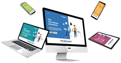 site web responsive adapté à tous les écrans PC, tablette, smartphone, mobile